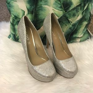Aldo Sparkle Gliter platform Pumps Shoes Size 9